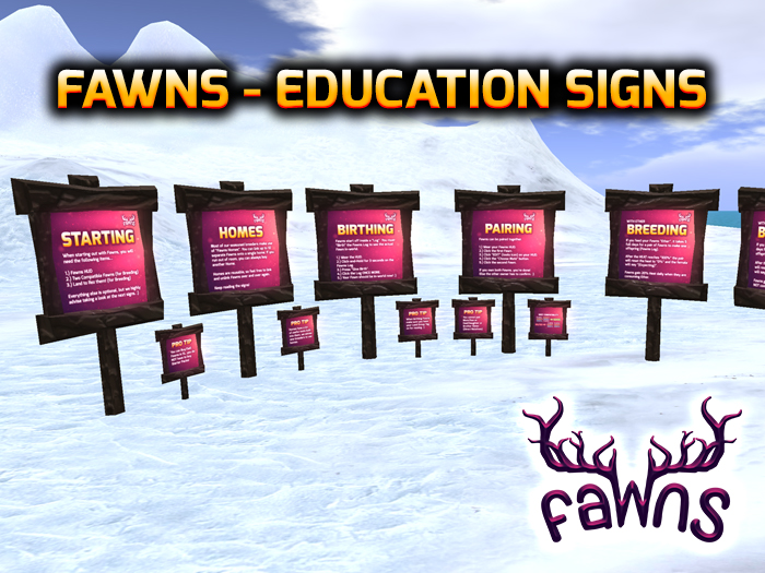 fawns-education-signs